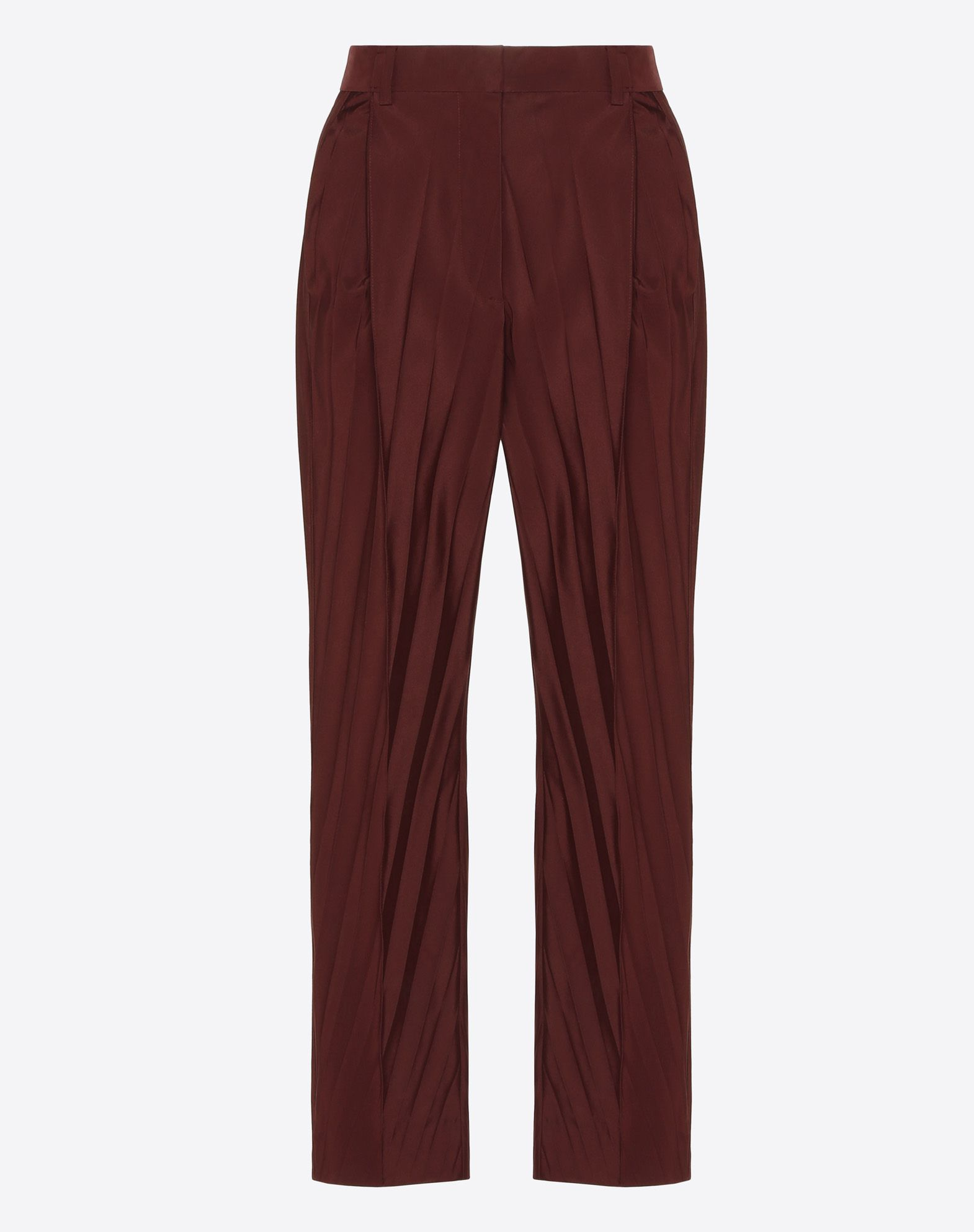 """Micro Faille """"Pressed Pleat"""" Trousers"""