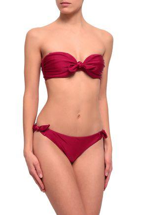 ZIMMERMANN Tie-front bandeau bikini top