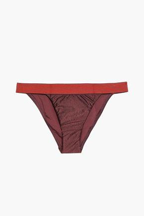 ZIMMERMANN Tie-dyed low-rise bikini briefs