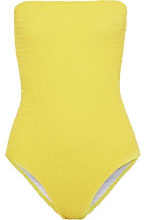 DIANE VON FURSTENBERG Shirred bandeau swimsuit