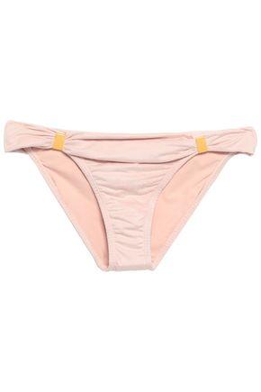 VIX PAULA HERMANNY Embellished faux suede low-rise bikini briefs
