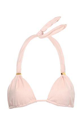 VIX PAULA HERMANNY Embellished faux suede triangle bikini top