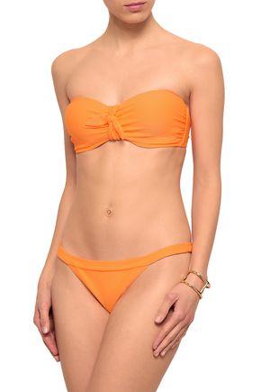 HEIDI KLEIN Neon stretch-piqué low-rise bikini briefs