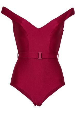 ZIMMERMANN Cutout belted swimsuit