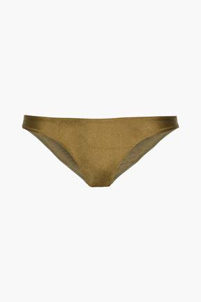 ZIMMERMANN Metallic low-rise bikini briefs
