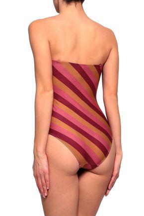 ZIMMERMANN Strapless striped swimsuit