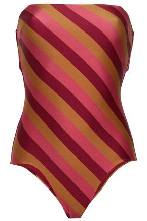 ZIMMERMANN Strapless striped swimsuit