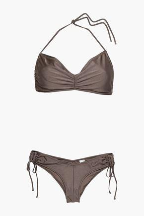 ZIMMERMANN Ruched printed bikini