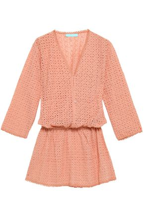 MELISSA ODABASH Kylie broderie anglaise woven mini dress