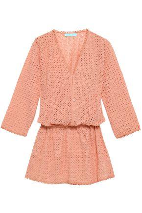 MELISSA ODABASH Kylie broderie anglaise woven mini dress