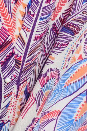 MELISSA ODABASH Katy printed voile kaftan