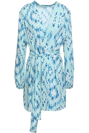 MELISSA ODABASH Printed voile coverup