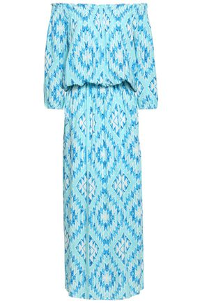MELISSA ODABASH Faith off-the-shoulder printed woven maxi dress