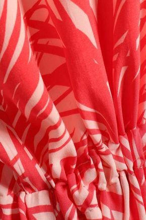 MELISSA ODABASH Delilah printed voile maxi dress