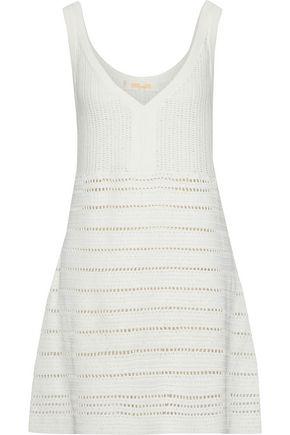 DIANE VON FURSTENBERG Crochet-knit cotton mini dress