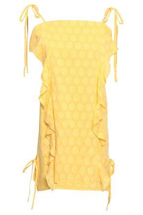 VIX SWIMWEAR   Vix Paula Hermanny Ruffled Fil Coupé Cotton Mini Dress   Goxip