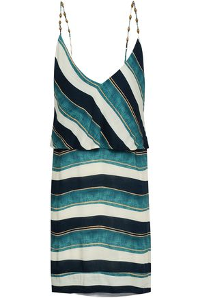 VIX PAULA HERMANNY San Andres Julie striped woven coverup