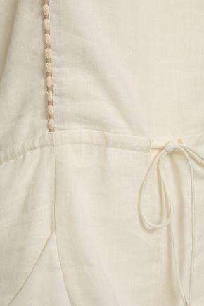 VIX PAULA HERMANNY Linen-blend gauze playsuit