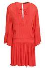 VIX PAULA HERMANNY Crinkled gauze mini dress