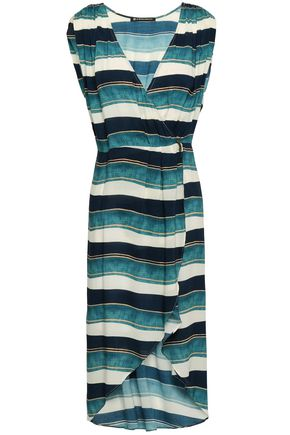 VIX PAULA HERMANNY Wrap-effect woven dress