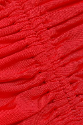 STELLA McCARTNEY Ruched bandeau bikini top