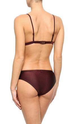 ZIMMERMANN Metallic triangle bikini top