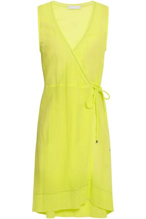 HEIDI KLEIN Neon cotton-gauze wrap coverup