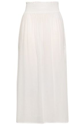 HEIDI KLEIN Shirred cotton-gauze midi skirt
