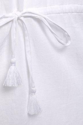 HEIDI KLEIN Gathered cotton-gauze coverup