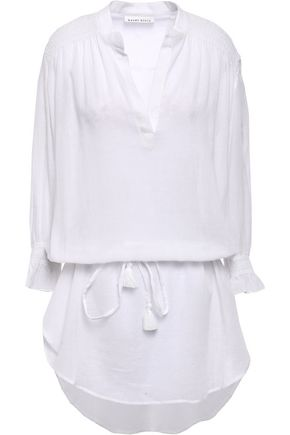 HEIDI KLEIN Gathered cotton-gauze coverup