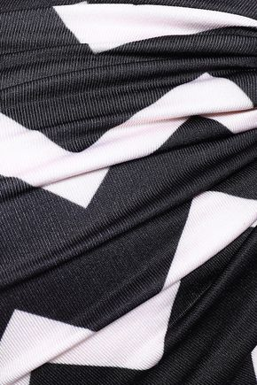 STELLA McCARTNEY Embellished printed bandeau bikini top