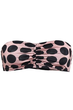STELLA McCARTNEY Ruched polka-dot bandeau briefs