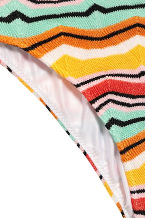 MISSONI MARE Scalloped crochet-knit triangle low-rise bikini