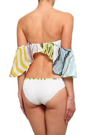 MISSONI MARE Layered crochet-knit bandeau bikini