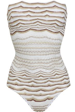 MISSONI MARE Cutout crochet-knit swimsuit