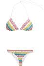 MISSONI MARE Crochet-knit triangle mid-rise bikini
