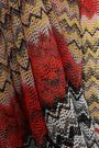 MISSONI MARE Open-back metallic crochet-knit halterneck jumpsuit