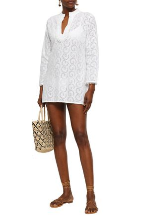 MELISSA ODABASH Broderie anglaise cotton coverup