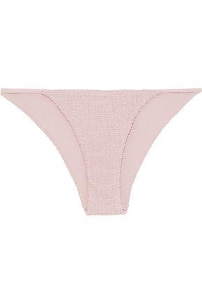 ONIA Rochelle smocked low-rise bikini briefs