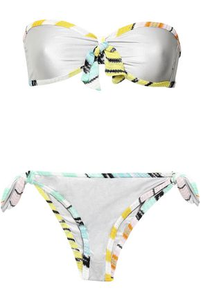 MISSONI MARE Stretch-jersey bandeau low-rise bikini