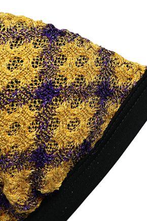 MISSONI MARE Metallic crochet-knit triangle mid-rise bikini
