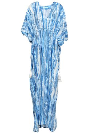 MELISSA ODABASH Printed voile maxi dress