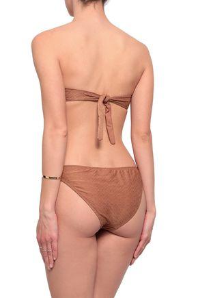 MELISSA ODABASH Martinique stretch-jacquard bikini briefs
