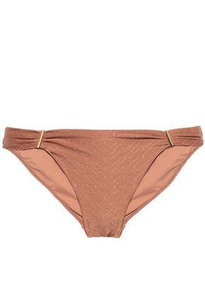 MELISSA ODABASH Matinique twist-front stretch-jacquard bandeau bikini