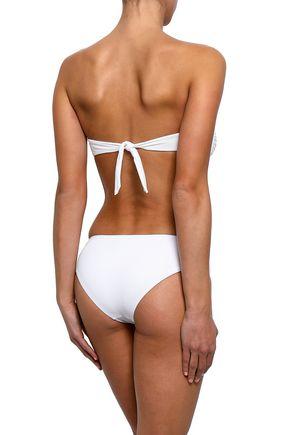 MELISSA ODABASH Angola stretch-piqué low-rise bikini briefs
