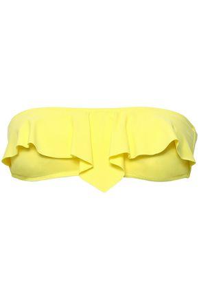 MELISSA ODABASH Strapless ruffled bandeau bikini top