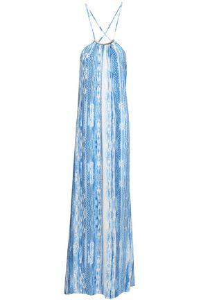 MELISSA ODABASH Sonia snake-print voile maxi dress