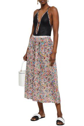 MISSONI MARE Printed cotton wide-leg pants