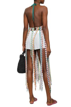 MISSONI MARE Fringed crochet-knit coverup