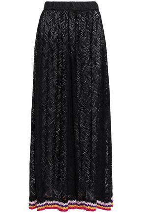 MISSONI MARE Striped crochet-knit wide-leg pants